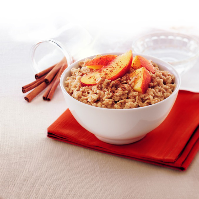 Peach and cinnamon porridge