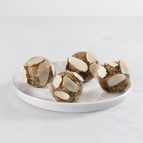 oatmeal mocha almond chia bites served on a small plate